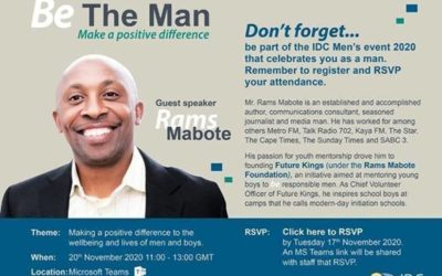 Rams Mabote is guest speaker at IDC's – Be The Man event